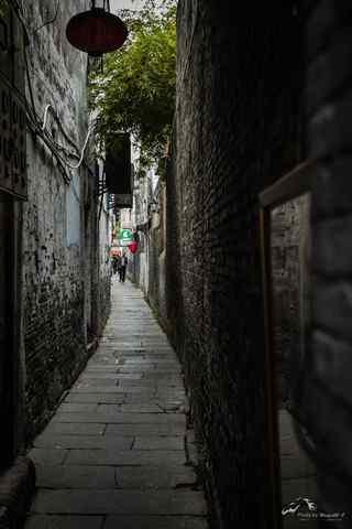 西塘古镇之文艺小巷风景手机壁纸