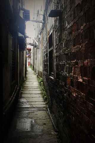 幽深的西塘古镇小巷手机壁纸