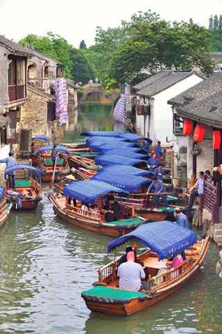 水上的古镇之周庄风景手机壁纸