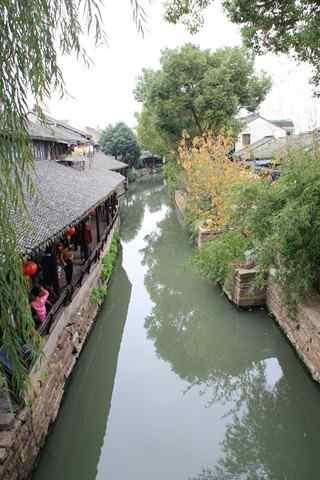 唯美的江南水乡之甪直古镇风景手机壁纸