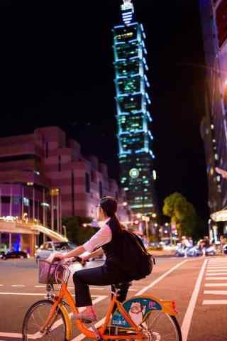 繁华台北夜景手机壁纸
