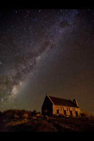新西兰好牧羊人教堂风景壁纸