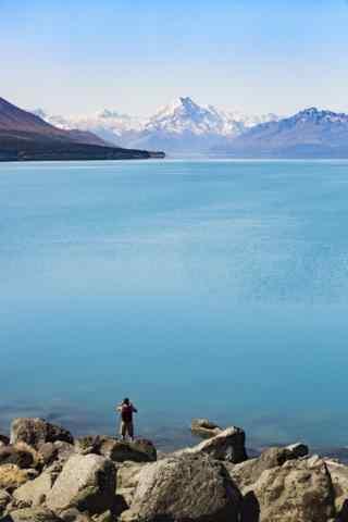 新西兰唯美新西兰库克雪山手机壁纸