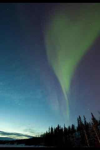 冰岛极地绝美的极光摄影手机壁纸
