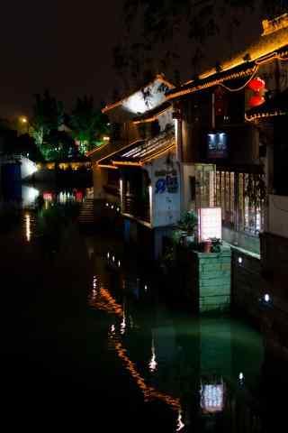 苏州山塘街夜景风