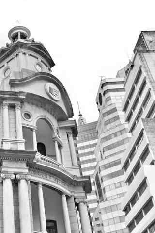 澳门的高楼建筑手
