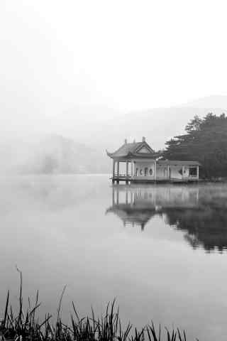 庐山雾色朦胧的山间景色手机壁纸(5张)