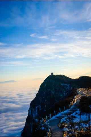 唯美的峨眉山云海手机壁纸