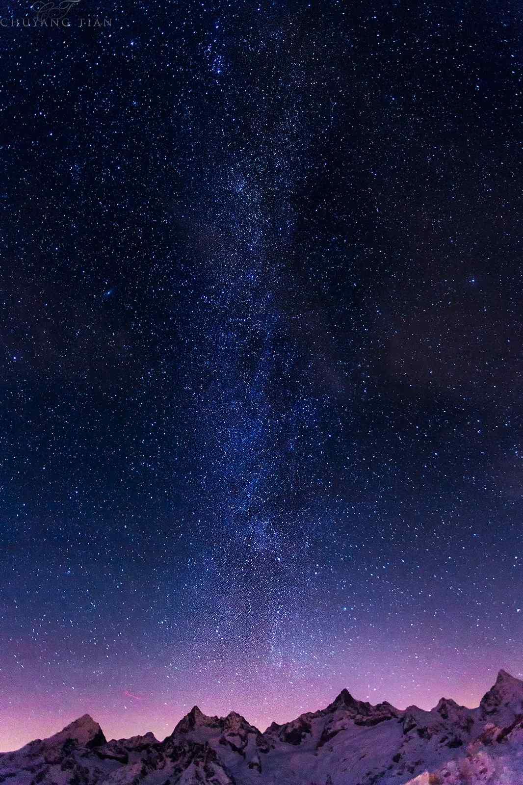 唯美星空圖片手機壁紙_簡約手機壁紙圖片