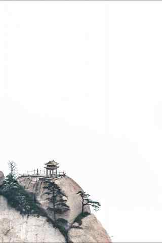 华山下棋亭唯美风景手机壁纸