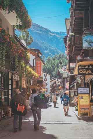 瑞士建筑街道风景