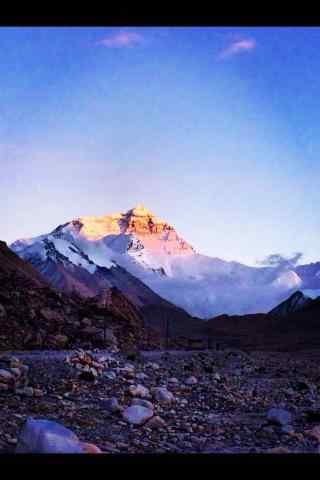 珠穆朗玛峰日出风景壁纸手机桌面
