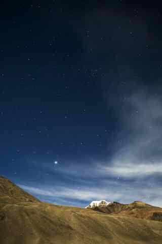 星空下的珠穆朗玛峰手机壁纸