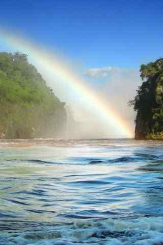 小清新彩虹风景手机壁纸