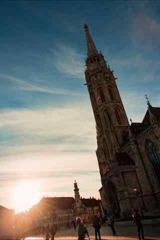 黄昏布达佩斯城市