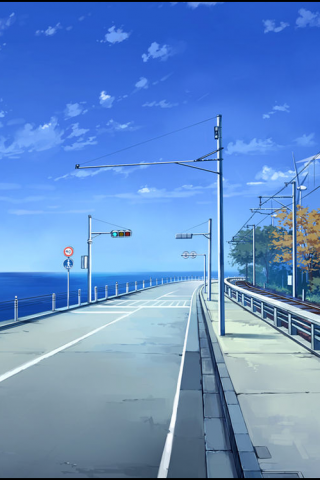 唯美的海边公路风