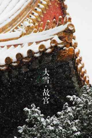 冬天风景之美丽的故宫雪景