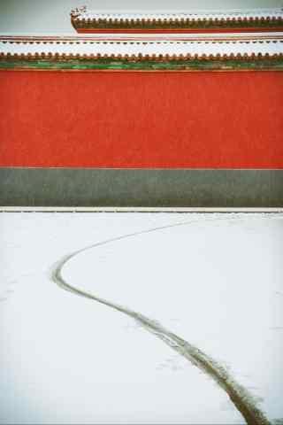 唯美的故宫雪景手机壁纸