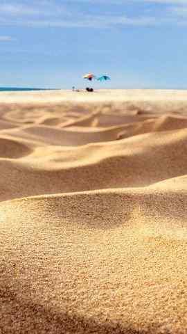 小清新沙漠手机风景壁纸