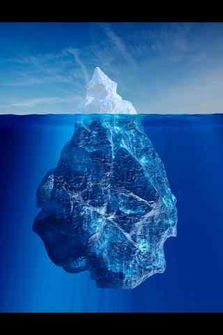 冰川全景图片手机壁纸