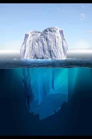 壮丽的北极冰川手机风景壁纸