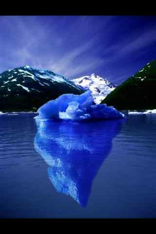 北极冰川全景手机壁纸