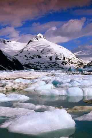 壮丽的北极冰山手机风景壁纸