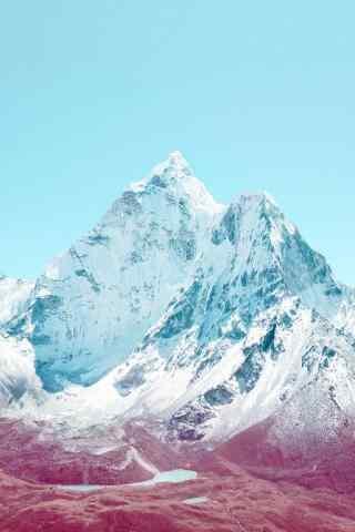 美丽的北极冰川图片手机壁纸