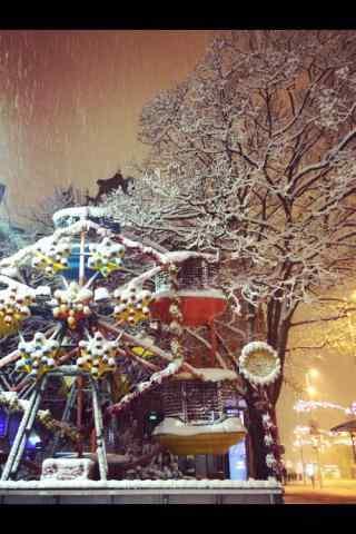 好看的冬日圣诞节风景手机壁纸