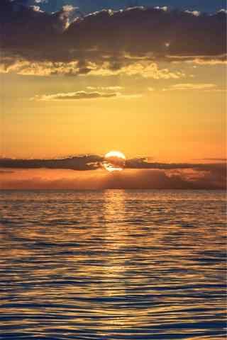 唯美夕阳海边手机壁纸
