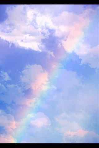 超唯美彩虹天空图