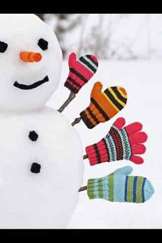 可爱雪人高清图片
