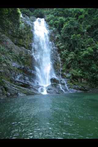 瀑布湖泊风景图片手机壁纸