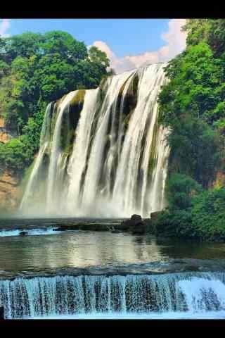 小清新黄果树瀑布风景图片手机壁纸