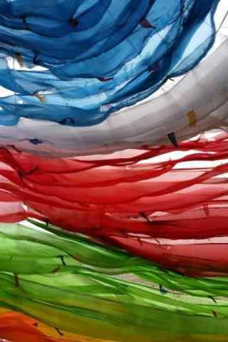彩色风马旗图片手机壁纸