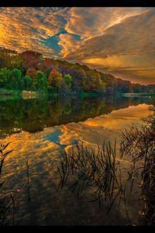 美丽的山谷风景手机壁纸
