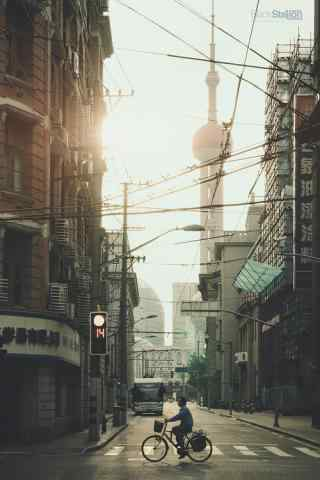 上海老街文化风景图片手机壁纸