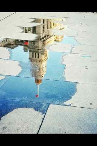 上海经典建筑倒影摄影图片手机壁纸