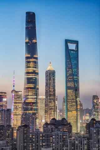上海金融中心图片手机壁纸