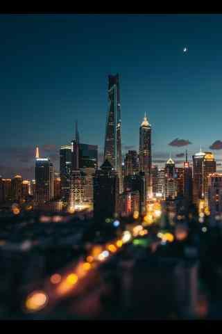 上海美丽静谧夜景图片手机壁纸