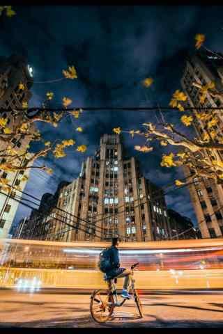 上海夜景创意摄影图片手机壁纸