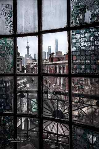 上海老式民国风建筑风景图片手机壁纸