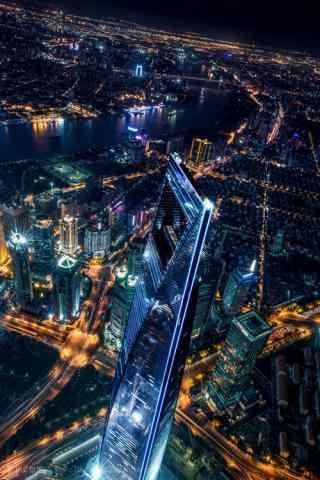 上海特色都市夜景图片手机壁纸