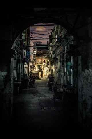 老上海小弄堂独特人文风情图片手机壁纸