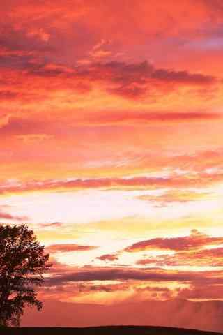 唯美的晚霞风景手机壁纸
