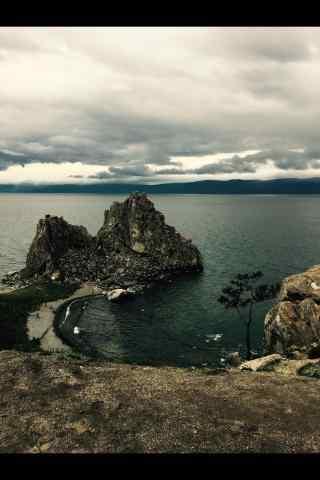 贝加尔湖萧条风景图片手机壁纸