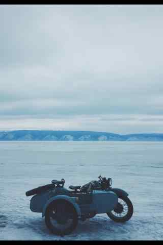 贝加尔湖雪地唯美图片手机壁纸