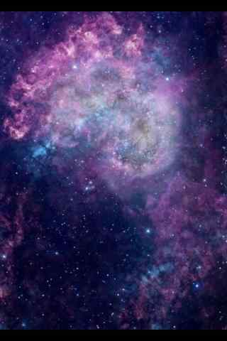 紫色唯美的星云手