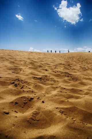 唯美宁夏沙漠风景图片手机壁纸