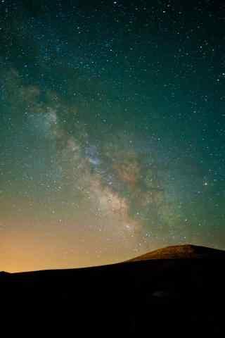 满天繁星的宁夏沙漠风景图片